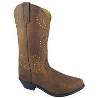 6255 Stud Heart Design Smoky Mountain Womens Western Cowboy Boots