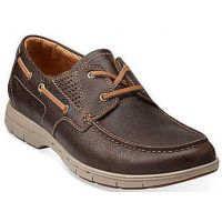 Clarks Unstructured Unnautical Sea Dark Brown  Mens Boat 68194