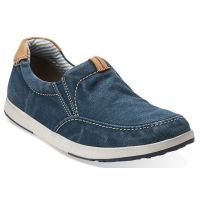 Clarks Norwin Easy Navy Canvas Mens Casual 68229