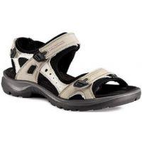 69563-54695 Yucatan Ice White/Black Performance Ecco Womens Sandals