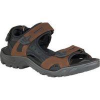 Ecco Yucatan Brown Leather Mens Comfort Sandal 69564-52340