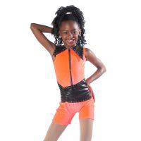 7627 Orange HOT STUFF 7626 Lime  7628 Pink Dance Recital Costumes CH