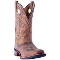 Dan Post Laredo Tan Kane Broad Square Toe  Mens Western Boots 7812
