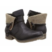 79693-00 Black Turn Down Top Womens Ankle Rieker Booties