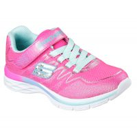 Skechers Dream N Dash Velcro  Pink Fabric Kids Athletic 8113L-NPAQ