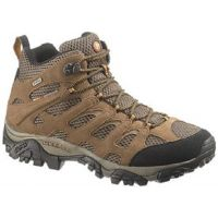 Merrell Moab Mid Waterproof Dura Leather/ Mesh Walnut Mens Hiker 88623