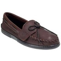 Minnetonka Moosehide Straight Plug Minnetonka Moccasin Mens Shoes 892