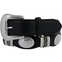 9113L Black Cutting Champ with Conchos 1 1/2 inch Tony Lama Mens Belts