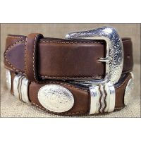 9119L Bark Cutting Champ with Conchos 1 1/2inch Tony Lama Mens Belts