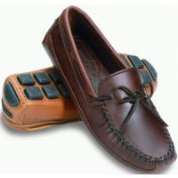 Minnetonka Moccasin Dark Brown Leather Mens Driving Moc 948