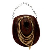 Western Moment Bird House Cowboy Hat Contrasting Scarf 94981