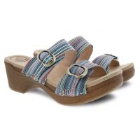 Dansko Sophie Multi Stripe Womens Slide On Comfort Sandals 9841-992200