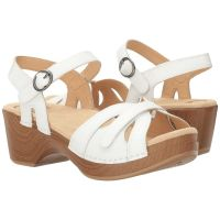 Dansko Season White Full Grain Womens Comfort Sandals 9849-012200