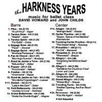 BOD9849 The Harkness Years-David Howard & John Childs