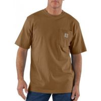 K87BRN Brown Short Sleeve Workwear Pocket T-Shirt Carhartt Mens Shirts