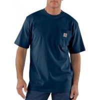 K87NVY Navy Short Sleeve Workwear Pocket T-Shirt Carhartt Mens Shirts