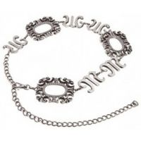 MM7830 NEW! Antique Nickel Logo Chain Miss Me Womens Belts