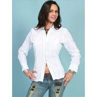 PSL012 Carla Contemporary Snap Western Blouse Scully Womens Shirts