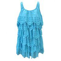 R3S302-U001 Turquoise Aquadoor Cut Out Ru Apparel Womens Dress