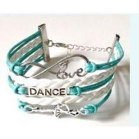 CJ Merchantile Aqua Infinitiy, Love, Dance, Ballerina Bracelet A-BR30