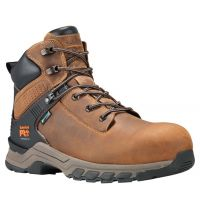 Timberland Pro Tan Full-Grain Hypercharge 6 Inch Composite Toe Mens Work Boots A1RVS