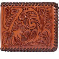 AW127 Natural Western Bifold 3D Belt Wallet