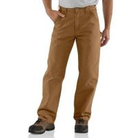 B11 Carharrt Brown Washed Duck Dungarees Mens Work Carpenter Pants