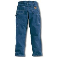 B13  Carhartt Darkstone Washed Denim Mens Work Carpenter Jeans