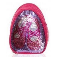 Capezio Hot Pink Girls Reversible Glitter Backpack B222C