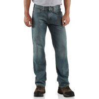 B320 Light Weathered Blue Relaxed Fit Straight Leg Carhartt Mens Jeans