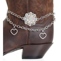 BA311 Kamberley Women's Heart & Berry Concho Boot Chain
