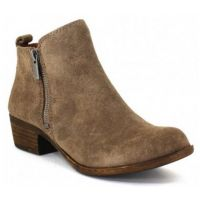 Lucky Brand Brindle Suede Side Zipper Womens Ankle Bootie