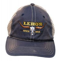 Lebos Navy Ballcap with Longhorn BC246-NAVY