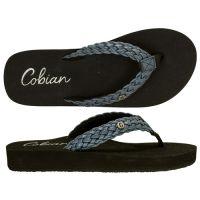 Cobian Blue Braided Bounce Womens Thong Sandals BRB10-BLUE