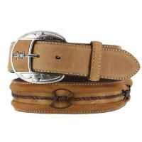 Leegin Bark Fenced In Barb Wire Western Mens Belts C10817