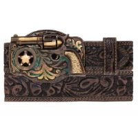 C11878 Floral Embossed Justin Trigger Happy Western Leegin Mens Belts