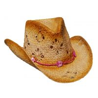 Toyo Straw Childrens Hat with Pink Band C379OS