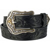 C41513 Tooled Leather Westerly Ride 1 1/2 inch Western Mens Belts