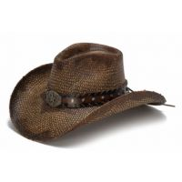 California Hat Company Brown Genuine Panama Straw Western Hat CA-1742