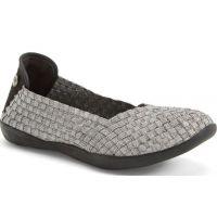 Bernie Mev Catwalk Stretch Elastic Memory Foam Footbed Slip-On Flat Womens Shoes Catwalk
