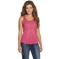 Cowgirl Up Dressy Razor Back Womens Tank With Rhinestone Details