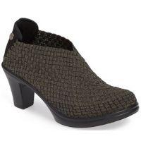 Bernie Mev Chesca Pump Gold/Black Womens Comfort Ankle Bootie CHESCA-GLD/BLK