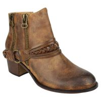 Not Rated Tan Chryse Dual Zipper Womens Casual Ankle Boots CHRYSE