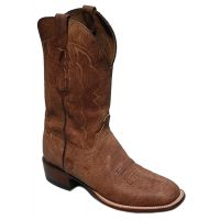 Lucchese Tan Marsh Goat Square Toe Mens Western Boots CL7904.W8