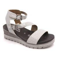Remonte Silver Glitter Womens Wedge Sandals D6351-92