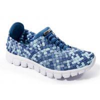 Zee Alexis Danielle-A Blue Multi Woven Womens Sneakers