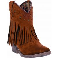 DI7448 CASSIDY Brown Fringe Dingo Womens Western Cowboy Boots