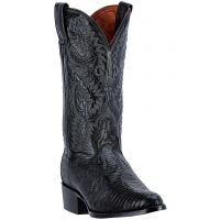 Dan Post Black Raleigh Mens Lizard R Toe Western Boots DP2350R **ONLINE ONLY**