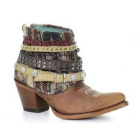 Corral Lorena Woven Aztec Printed Shaft Womens Western Boots E1386