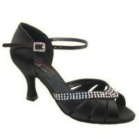 Stephanie Elite Black Womens Ballroom Shoes E209